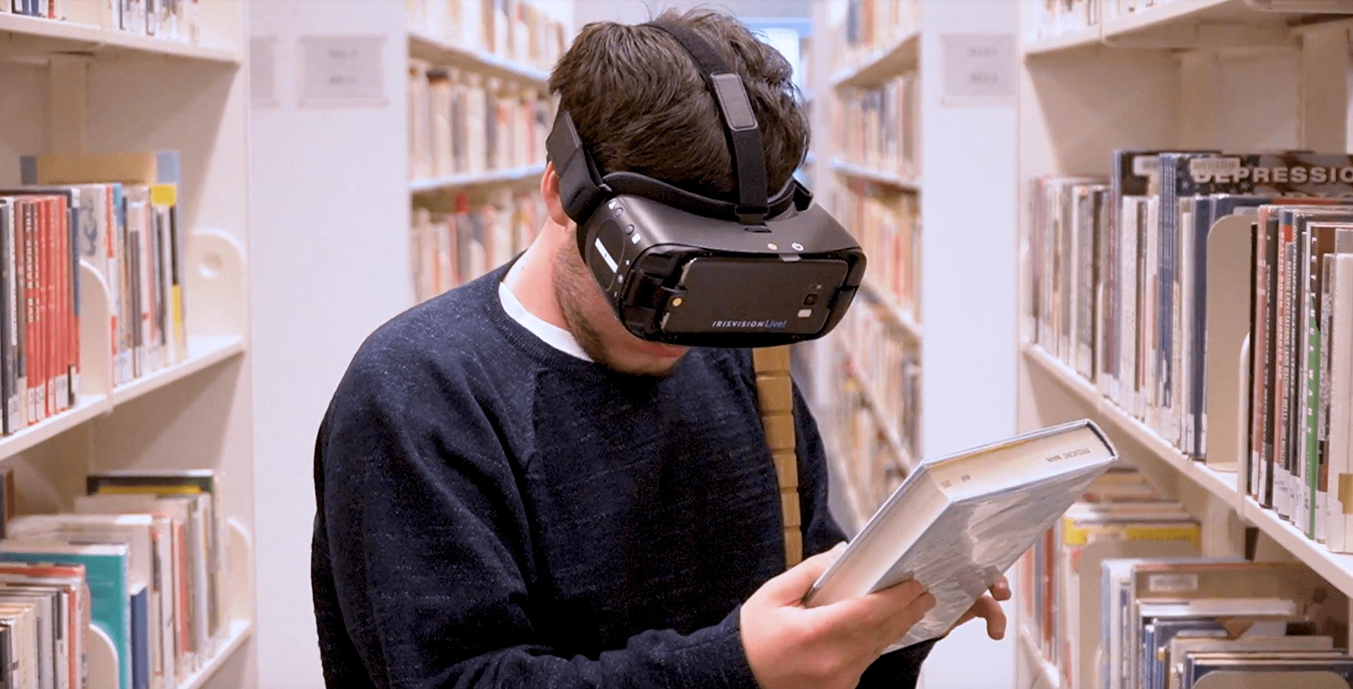 Read books using IrisVision