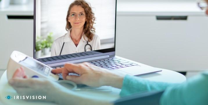 Low vision rehabilitation through remote monitoring using telehealth apps